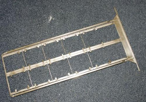 Stainless steel hanger for 5x4 film developing dip and dunk machine